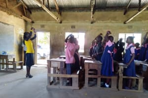 The Water Project: Friends Kaimosi Demonstration Primary School -  Students Participate In Training