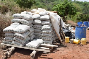 The Water Project: Kyetonye Community A -  Bags Of Cement