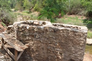 The Water Project: Kyetonye Community A -  Building Up Well Pad