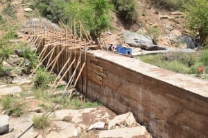 The Water Project: Kyetonye Community -  Framing Sand Dam For Concrete