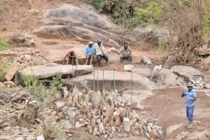 The Water Project: Kyetonye Community -  Framing Up Area For Dam