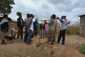 The Water Project: Kyetonye Community A -  Handwashing Station Demonstration