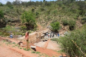 The Water Project: Kyetonye Community -  Sand Dam In Progress