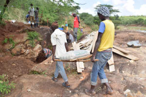 The Water Project: Kithuluni Community B -  Carrying Bag Of Cement