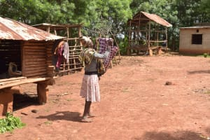 The Water Project: Ivumbu Community -  Hanging Clothes On The Line To Dry