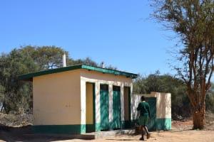 The Water Project: Kakunike Primary School -  Boys Latrines