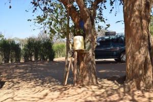 The Water Project: Kakunike Primary School -  Improvized Handwashing Station