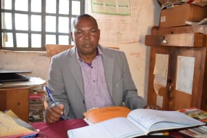 The Water Project: Maviaume Primary School -  Benjamin Kasimu