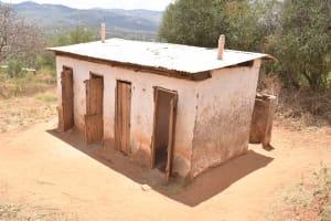 The Water Project: Maviaume Primary School -  Boys Latrines