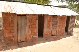 The Water Project: Maviaume Primary School -  Girls Latrines