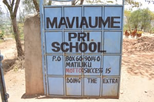 The Water Project: Maviaume Primary School -  School Gate And Sign