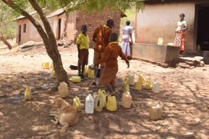 The Water Project: Maviaume Primary School -  Students With Their Water Containers