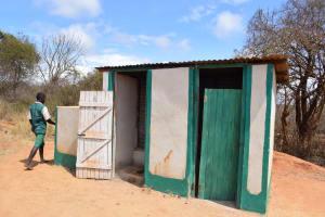 The Water Project: Kyandoa Primary School -  Boys Latrines