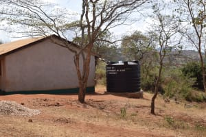 The Water Project: Kyandoa Primary School -  Small Rainwater Harvesting Tank