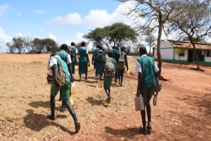 The Water Project: Kyandoa Primary School -  Students And Their Water Containers
