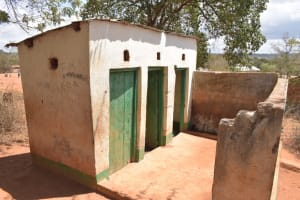 The Water Project: AIC Mbao Primary School -  Boys Latrines