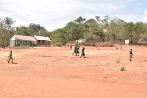 The Water Project: AIC Mbao Primary School -  Children Playing On School Grounds