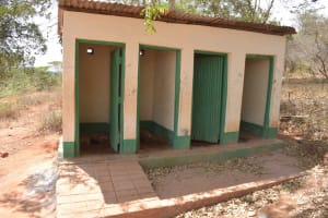 The Water Project: AIC Mbao Primary School -  Girls Latrines