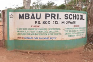 The Water Project: AIC Mbao Primary School -  School Entrance
