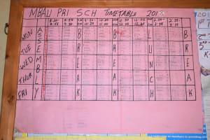 The Water Project: AIC Mbao Primary School -  School Schedule