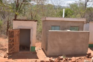 The Water Project: AIC Mbao Primary School -  Staff Latrines