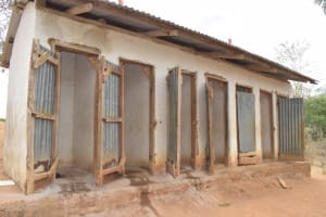 The Water Project: Kithoni Primary School -  Girls Latrines