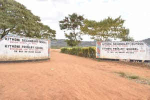 The Water Project: Kithoni Primary School -  School Entrance