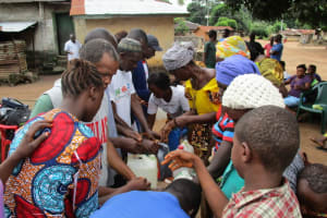 The Water Project: Lungi Town, 112 Alimamy Seray Modu Road -  Building Tippy Taps For Handwashing
