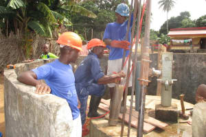 The Water Project: Lungi Town, 112 Alimamy Seray Modu Road -  Drill Team In Action