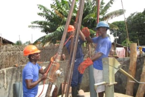 The Water Project: Lungi Town, 112 Alimamy Seray Modu Road -  Drilling