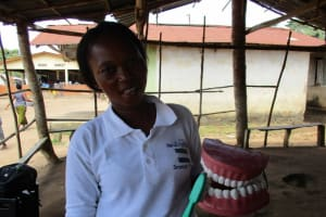 The Water Project: Lungi Town, 112 Alimamy Seray Modu Road -  Toothbrushing Demonstration