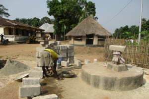 The Water Project: Mapitheri, Port Loko Road -  Bricks For The Well Wall