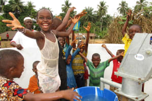 The Water Project: Mapitheri, Port Loko Road -  Celebrating The Well