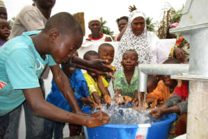 The Water Project: Mapitheri, Port Loko Road -  Kids Play At New Well