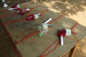 The Water Project: Mapitheri, Port Loko Road -  Set Up To Build Tippy Tap Handwashing Stations
