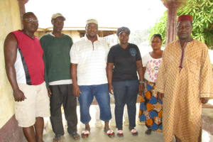 The Water Project: Mapitheri, Port Loko Road -  Wash Committee Members