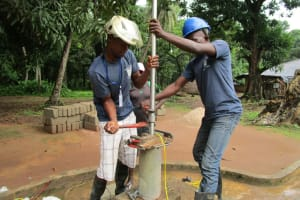 The Water Project: Mondor Community -  Installing The Pump
