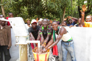 The Water Project: Mondor Community -  Young Men Celebrate The Well