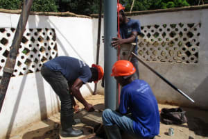 The Water Project: Moniya Community -  Drilling To Lower Depth