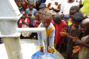 The Water Project: Moniya Community -  Filling Container With Water