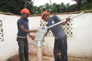 The Water Project: Moniya Community -  Pump Nearly Installed