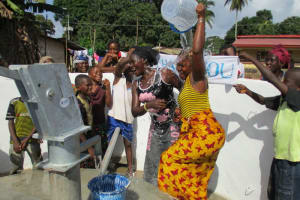 The Water Project: Lungi Town, 112 Alimamy Seray Modu Road -  Celebrating Reliable Water