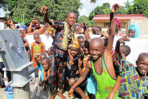 The Water Project: Lungi Town, 112 Alimamy Seray Modu Road -  Kids Pose At The Well
