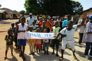 The Water Project: Lungi Town, 112 Alimamy Seray Modu Road -  Signing And Dancing At The Dedication Ceremony