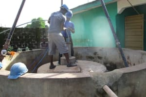 The Water Project: Kamasando DEC Primary School -  Flushing The Well
