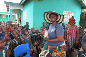 The Water Project: Kamasando DEC Primary School -  Glitter For Handwashing And Germ Demonstration