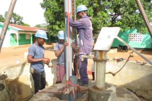 The Water Project: Kamasando DEC Primary School -  Preparing Temporary Casing