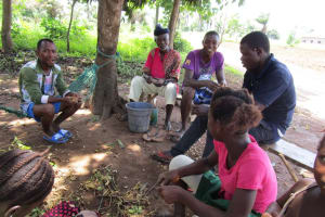 The Water Project: Tholmossor, Amputee Camp -  Chatting