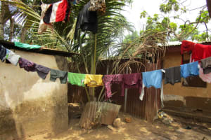 The Water Project: Tholmossor, Amputee Camp -  Clothes Hang To Dry