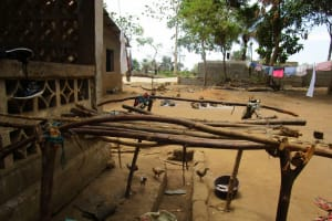 The Water Project: Tholmossor, Amputee Camp -  Dish Drying Rack